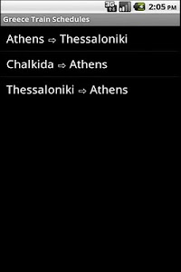 Greece Train Schedules screenshot 0