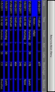 Diabetes Tracker Carb Ed. screenshot 1