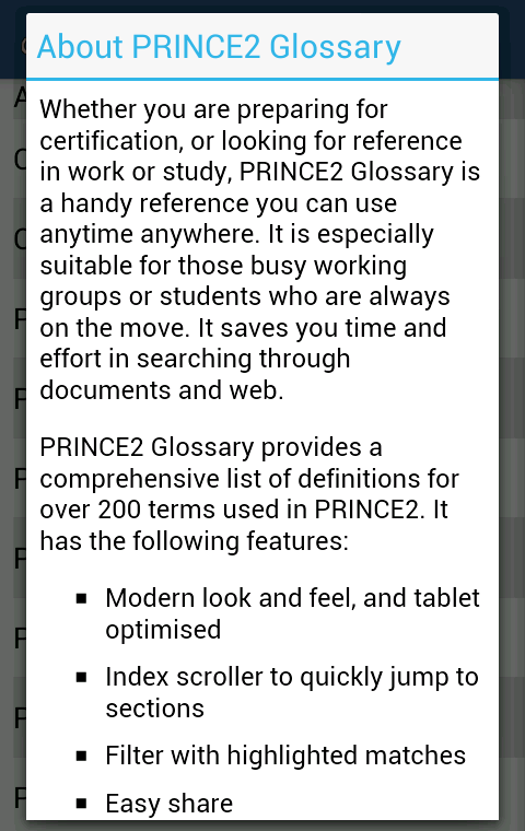 Glossary For Prince2  Android Apps On Google Play