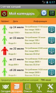 Калькулятор калорий screenshot 01
