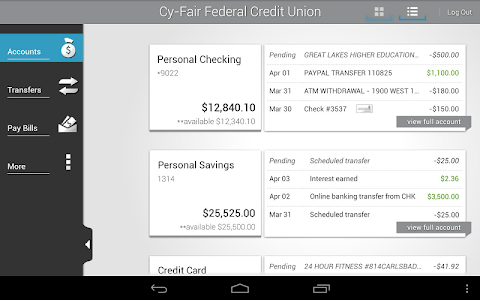 Cy-Fair FCU Mobile Banking screenshot 10