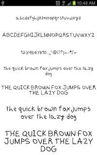 Fonts Hand for FlipFont® Free screenshot 05
