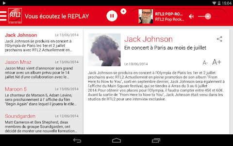 RTL2 - Le son Pop-Rock screenshot 13
