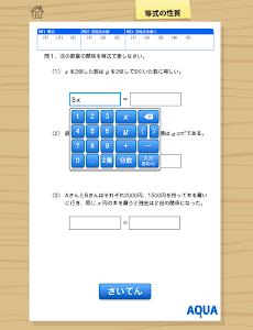 等式の性質 さわってうごく数学「AQUAアクア」 screenshot 6