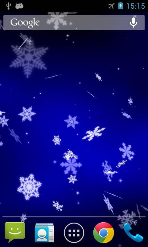 Christmas Falling Snow Wallpaper Note 3 Snowflake 3d Live Wallpaper Android Apps On Google Play