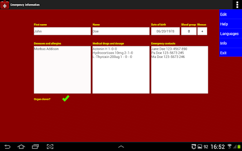 Emergency Information screenshot 7