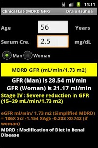 Clinical Lab ( GFR ) screenshot 3