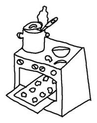 cocina colorear dibujos estufa pintar dibujo imagui utensilios alimentos imprimir cocinas fichas imagenes cocinar curs projectes animado chef colorir cozinha