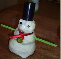 play dough snowman