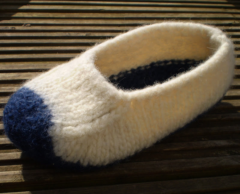 Free Pattern Felted Slippers Knit Amp Purl Makes