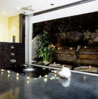 Design Dream House: Modern Indoor Waterfall Fountain