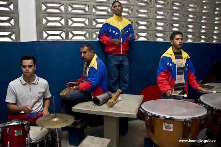 Ensayo general. Centro penitenciario de la Región Andina, Mérida. 23-07-2009. Fotografía: Amilciar Gualdrón.
