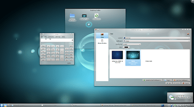 KDE 4.6 Oxygen Transparent screenshot