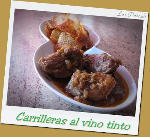 Carrilleras en salsa de vino tinto.