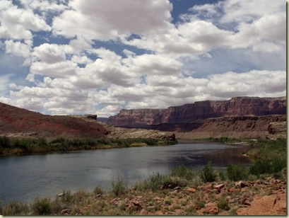 Colorado River downstream, Lee's Ferry launch Arizona