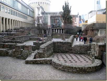 Archaeological Garden & Roman ruins Frankfurt Germany