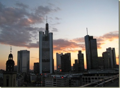 Mainhattan skyline of Frankfurt Germany