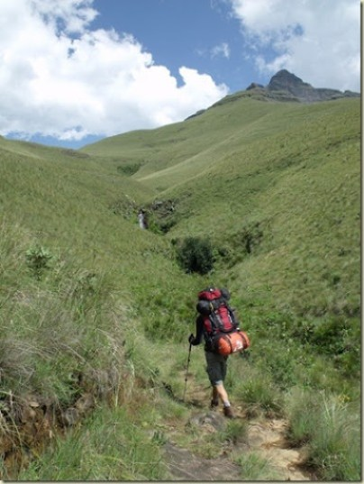 John on the trail Drakensburg Mountains South Africa