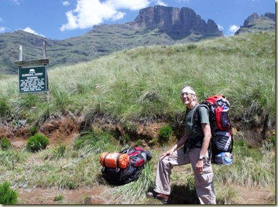 Gaelyn at Blind Man's Corner Drakensburg Mountains South Africa