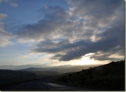 Sunrise N2 E from Mount Frere Eastern Cape South Africa