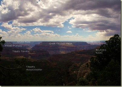 a459 Tapeats Terrace & Great Thumb Mesa from Crazy Jug Point FS292 Kaibab NF AZ pano with labels (1024x734)