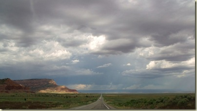 Storm building over Vermilion Cliffs on the way home Hwy 389 east Arizona