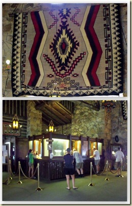 Main lobby & Navajo rug Grand Lodge North Rim Grand Canyon National Park Arizona