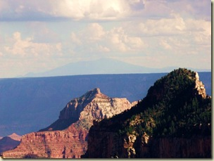 Mt Humphreys, Deva temple & Widforss point fin from Widforss trail North Rim Grand Canyon National Park Arizona