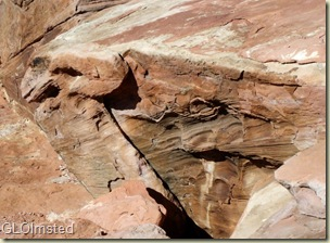 Supai sandstone bedding planes and erosion Toroweap Grand Canyon National Park Arizona