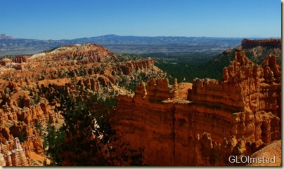 Looking across the hoodoos & beyond from Wall Street Navajo Loop trail Bryce Canyon National Park Utah