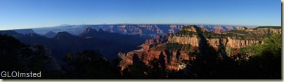 Morning light in canyon from Lodge North Rim Grand Canyon National Park Arizona
