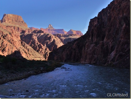Colorado River upstream from Silver Bridge Grand Canyon National Park Arizona