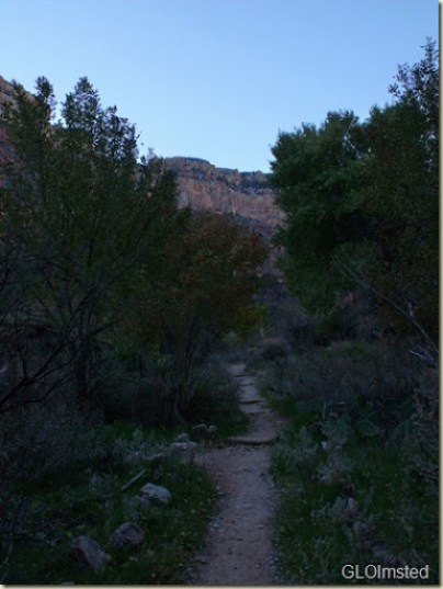 Bright Angel Trail into Indian Garden campground Grand Canyon National Park Arizona
