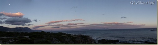 Moon & sunset Walker Bay Hermanus Western Cape South Africa