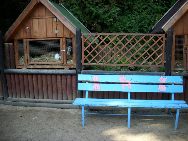 Ławka w różowe świnki - Małe Zoo