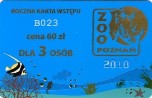 Roczny karnet dla trzech osób do poznanskiego zoo - kupiliśmy go na początku roku, jeszcze przed podwyżką cen biletów, gdy kosztował tylko 60 zł!