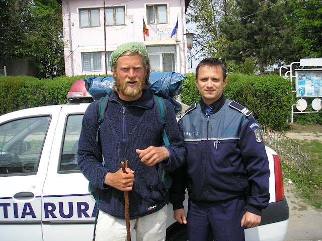Liviu Dragu, my friendly police escort. Making sure I wasnt attacked by the bogey man or Gypsies.