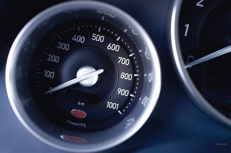 Bugatti Veyron 2009 in Dubai... Checkout the speedometer in the last image... woww!!!