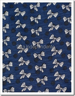 Blusa Azul, Laço, Branco