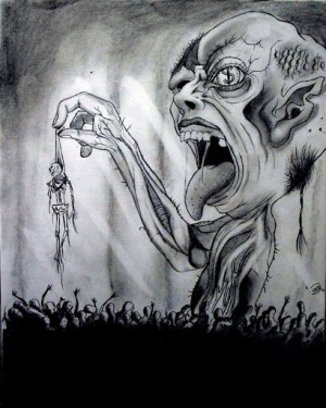 gothic scary drawings drawing cool sketch illustration pencil sketches paintings awesome glazemoo scaring examples illustrations fredo lipton artists tattoo bookmarking