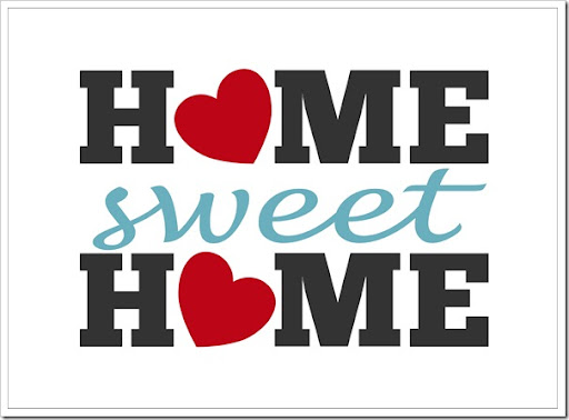 image relating to Home Sweet Home Printable named Dwelling Cute Residence Absolutely free Printable [ A person Velvet Early morning ]