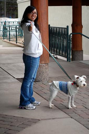 My own personal dog walker, hehe. ::Wink::
