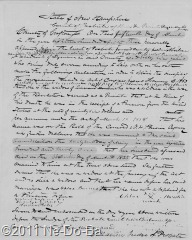 Widow's Pension Application