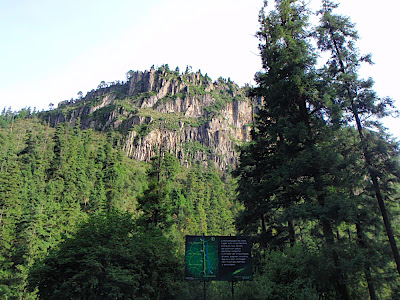 El Parque Nacional de Los Dinamos in Mexico City limits...pretty cool. this is from the parking lot of the 4th Dinamo where we climbed. Im not sure if this is exactly the spot we hike up to for the climbing, but lets just say it is
