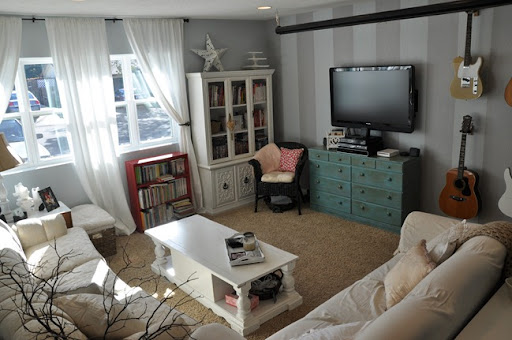 Domestic Fashionista Living Room Painted How To Paint