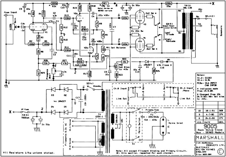 Paging Larry/SDM/Techs...Marshall 9005 Poweramp circuit