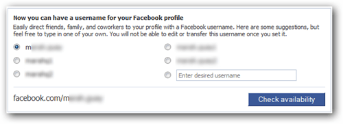 fb username