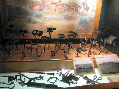 branding irons and cowboy tools