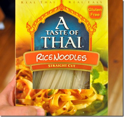 Slow Cooker Thai Chicken: Box of Rice Noodles