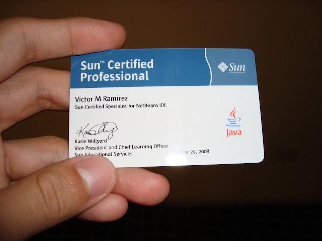 Credencial Certificacion NetBeans